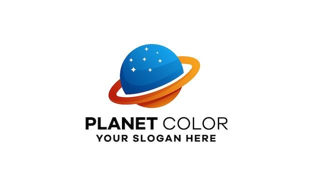 Sjabloon met logo voor planeetverloop
