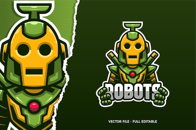 Sjabloon met logo voor robot e-sport