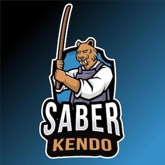 Sjabloon met logo voor sabertooth kendo