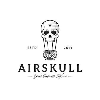Sjabloon met logo voor schedel luchtballon