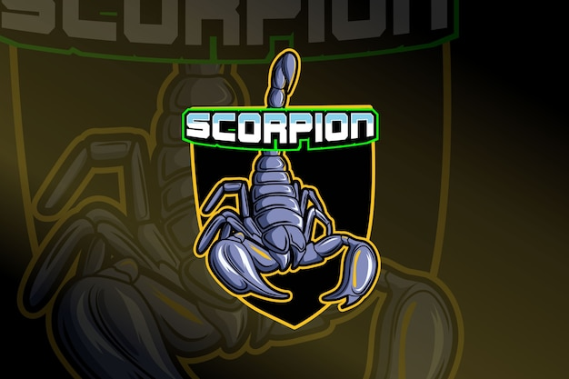 Sjabloon met logo voor scorpion e-sports team