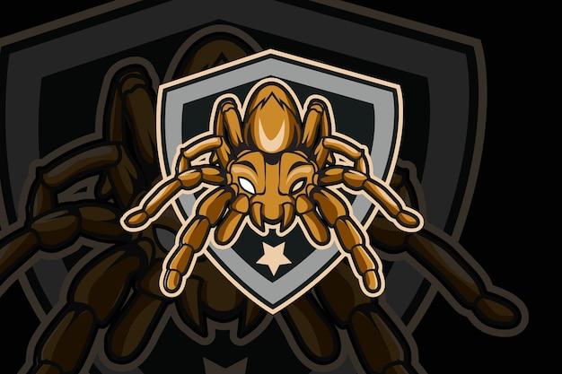 Sjabloon met logo voor spider e-sports team