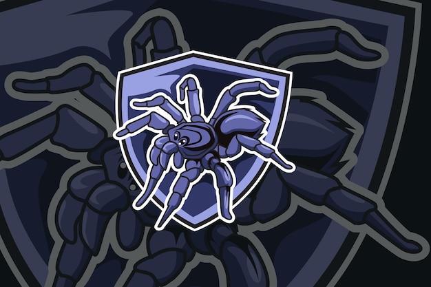Sjabloon met logo voor spider e sportteam