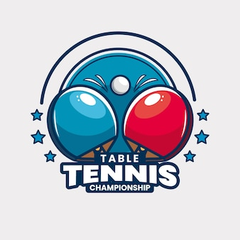 Sjabloon met logo voor tafeltennistoernooi