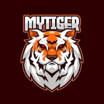 Sjabloon met logo voor tiger e-sports