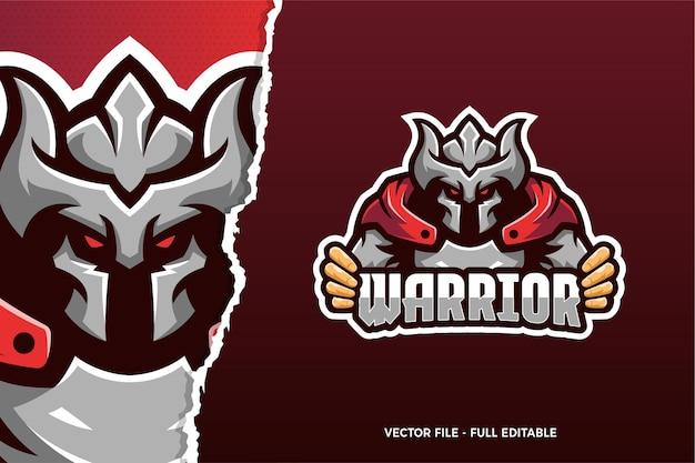 Sjabloon met logo voor viking warrior esports game