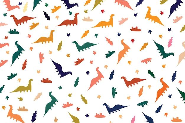 Sjabloon met patroon in achtergrondkleur van dino