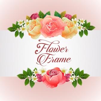 Sjabloon met roze bloemen thema