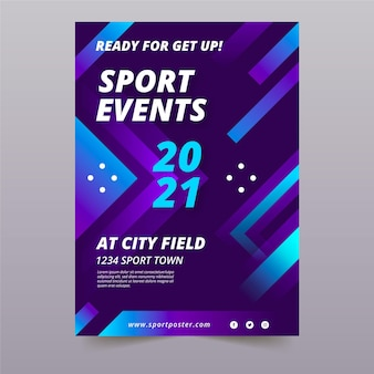 Sjabloon met sportevenement voor poster