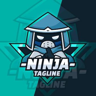 Sjabloon met verloop ninja-logo grad