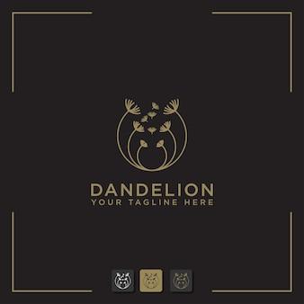 Sjabloon paardebloem bloem logo pictogram ontwerp