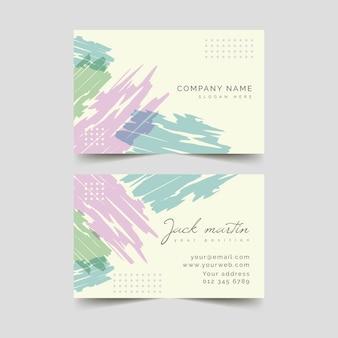 Sjabloon pastel gekleurde vlekken abstract visitekaartje