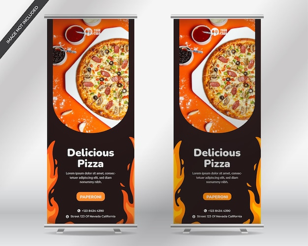 Sjabloon pizza flyer
