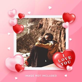 Sjabloon postfoto voor een romantisch moment