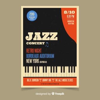 Sjabloon retro muziek poster
