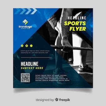 Sjabloon sport folder met afbeelding