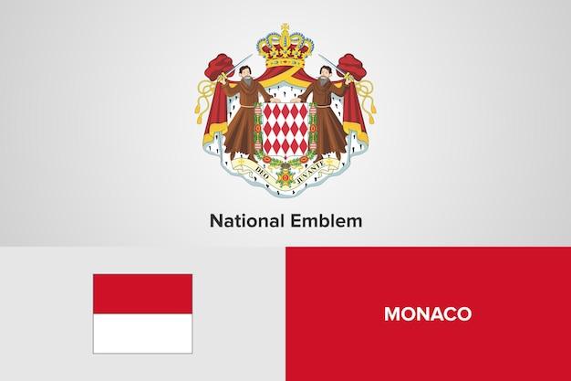 Sjabloon van de vlag van het nationale embleem van monaco moldavië