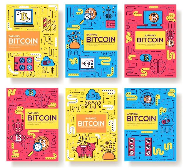 Sjabloon van dunne lijn iconen, logo, symbolen, pictogram en platte illustraties concept.