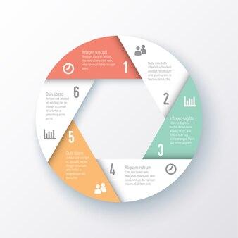 Sjabloon van een cirkeldiagram