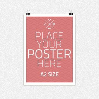 Sjabloon van frame met poster