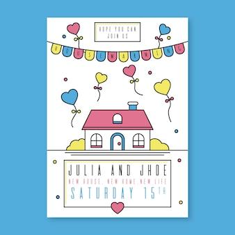 Sjabloon van housewarming party uitnodiging concept