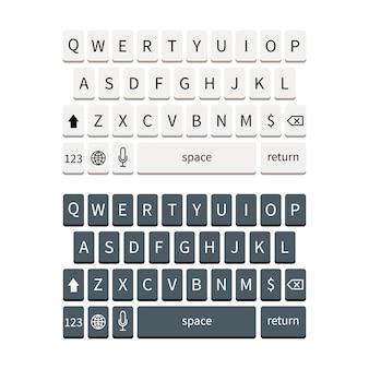Sjabloon van smartphone-toetsenbord