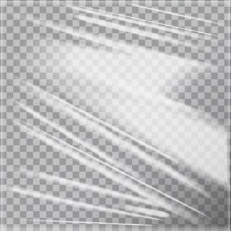 Sjabloon van transparant glanzend polyethyleen plastic warp