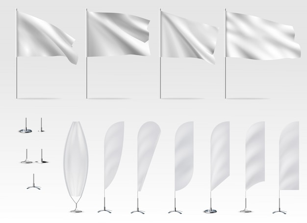 Sjabloon van witte vlaggen