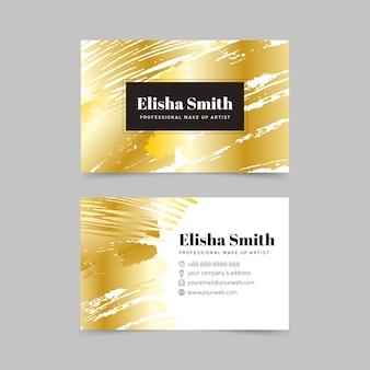 Sjabloon visitekaartje gouden vlekken