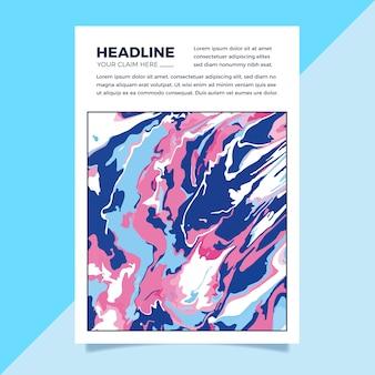 Sjabloon vloeistof effect kleurrijke poster Gratis Vector