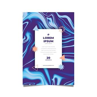 Sjabloon vloeistof effect kleurrijke poster