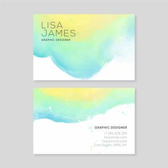 Sjabloon voor abstract aquarel visitekaartjes