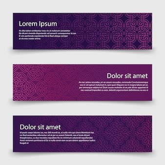 Sjabloon voor abstract banners met decoratieve keltische knopen