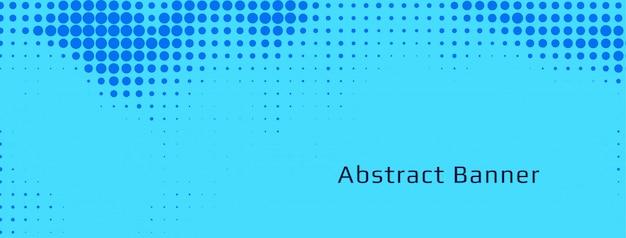 Sjabloon voor abstract blauwe halftone spandoek