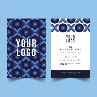 Sjabloon voor abstract blue visitekaartjes