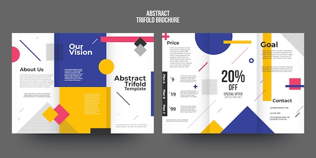 Sjabloon voor abstract brochure