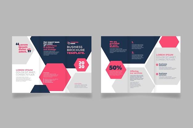 Sjabloon voor abstract brochure