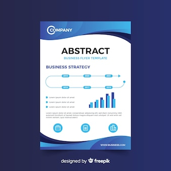 Sjabloon voor abstract bussiness flyer