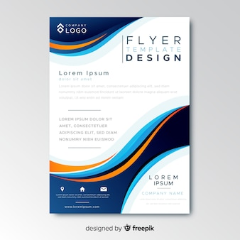 Sjabloon voor abstract bussiness flyer