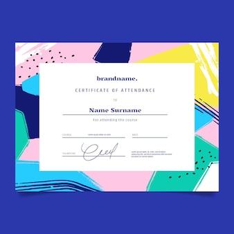 Sjabloon voor abstract diploma