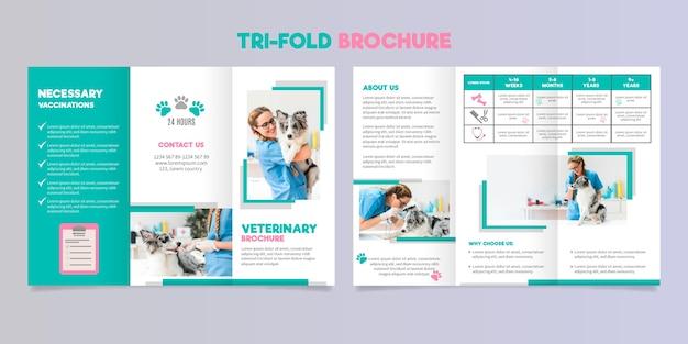 Sjabloon voor abstract driebladige brochure