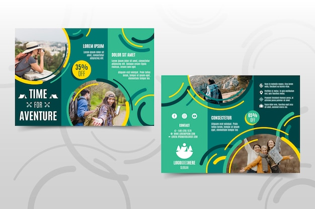 Sjabloon voor abstract driebladige brochure
