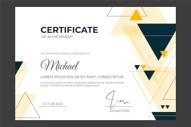 Sjabloon voor abstract geometrisch certificaat