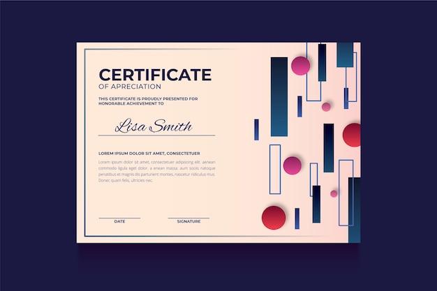 Sjabloon voor abstract geometrisch certificaat