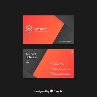 Sjabloon voor abstract geometrische visitekaartjes