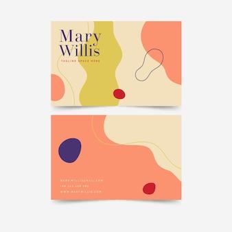Sjabloon voor abstract geschilderd visitekaartjes