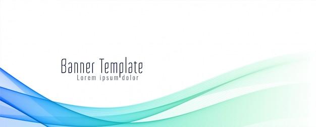 Sjabloon voor abstract golvende banner stijlvolle