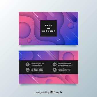 Sjabloon voor abstract gradiënt visitekaartjes