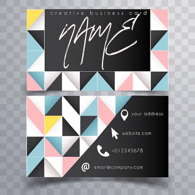 Sjabloon voor abstract heldere moderne visitekaartjes
