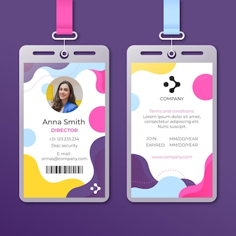Sjabloon voor abstract identiteitskaart-kaarten met foto